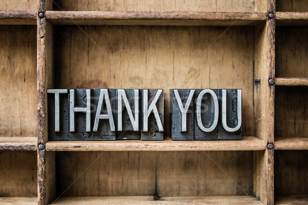 Thank You Letterpress Type in Drawer Stock photo © enterlinedesign