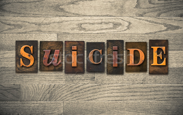 Suicidio palabra escrito vintage Foto stock © enterlinedesign