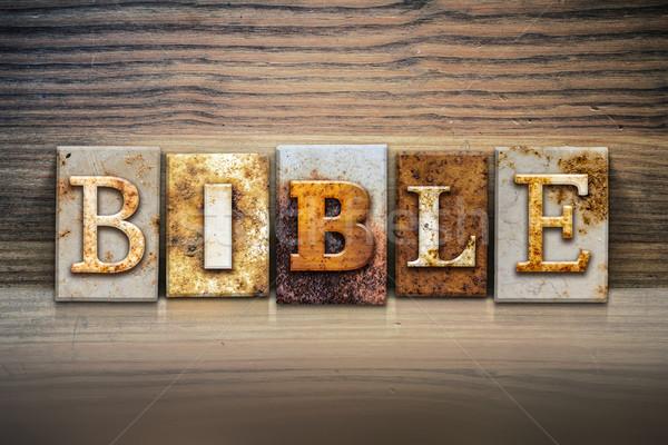 Bible Concept Letterpress Theme Stock photo © enterlinedesign