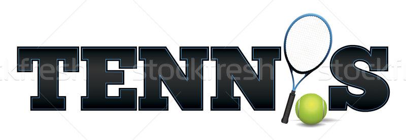 Tennis Word Art Illustration Stock photo © enterlinedesign