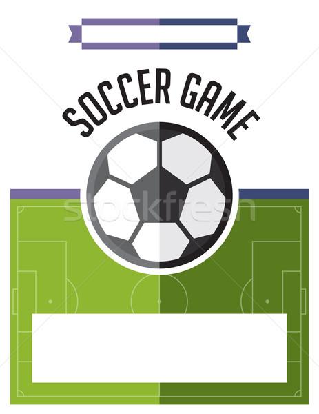 Foto stock: Fútbol · partido · de · fútbol · volante · ilustración · plantilla · vector