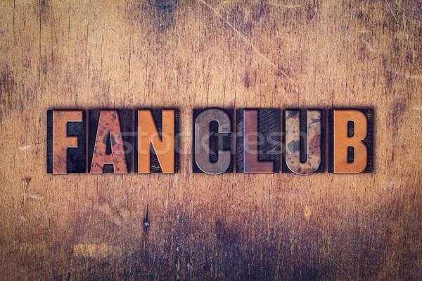 Fan klub typu słowo Zdjęcia stock © enterlinedesign