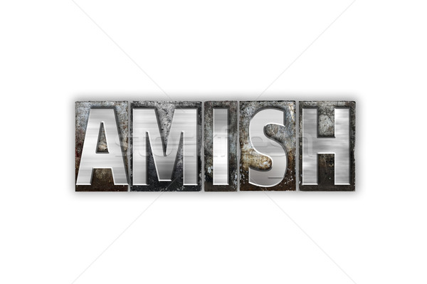 Amish Concept Isolated Metal Letterpress Type Stock photo © enterlinedesign