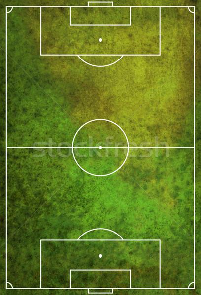 Mintázott grunge futball futballpálya zöld fű Stock fotó © enterlinedesign