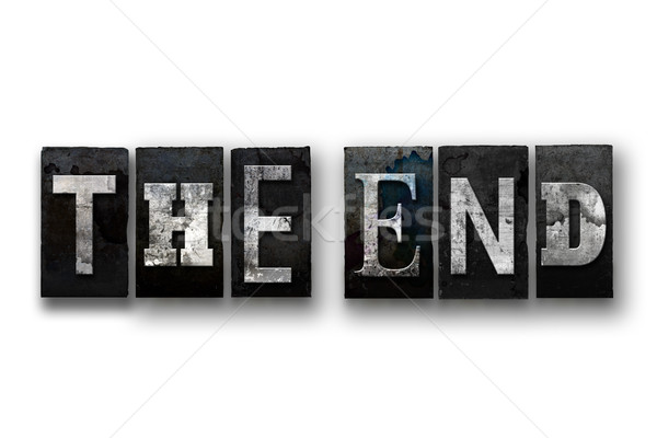 The End Concept Isolated Letterpress Type Stock photo © enterlinedesign