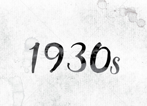 1930-as évek festett tinta szó vízfesték fehér Stock fotó © enterlinedesign