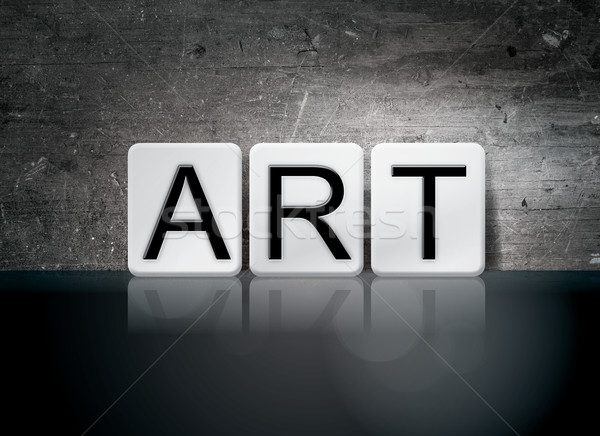 Art Tiled Letters Concept and Theme Stock photo © enterlinedesign
