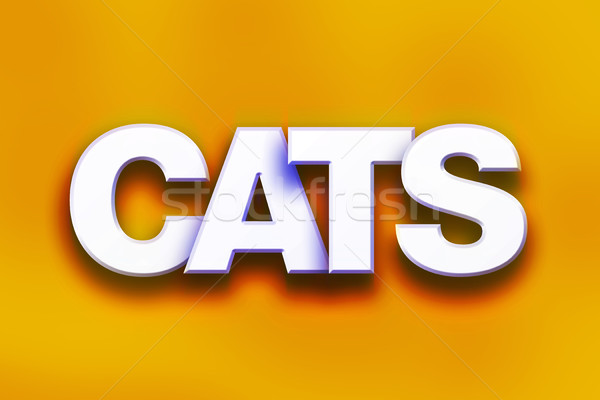 Cats Concept Colorful Word Art Stock photo © enterlinedesign