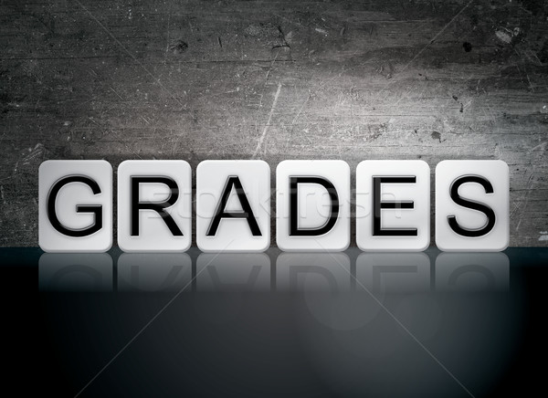 Grades Tiled Letters Concept and Theme Stock photo © enterlinedesign