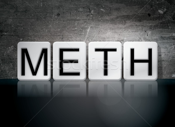 Meth Tiled Letters Concept and Theme Stock photo © enterlinedesign