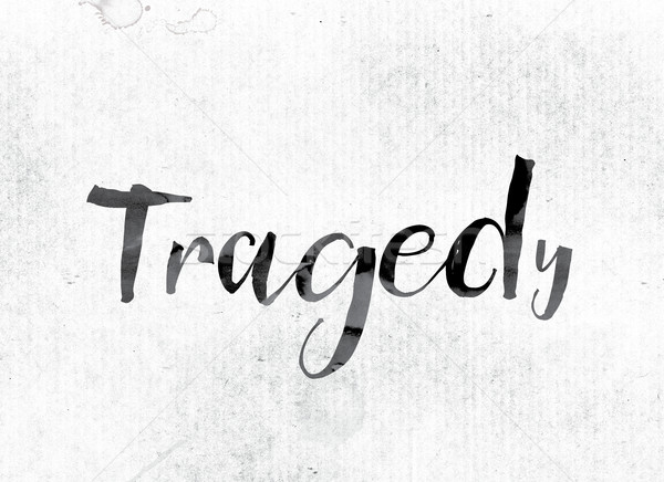 Tragedy Concept Painted in Ink Stock photo © enterlinedesign