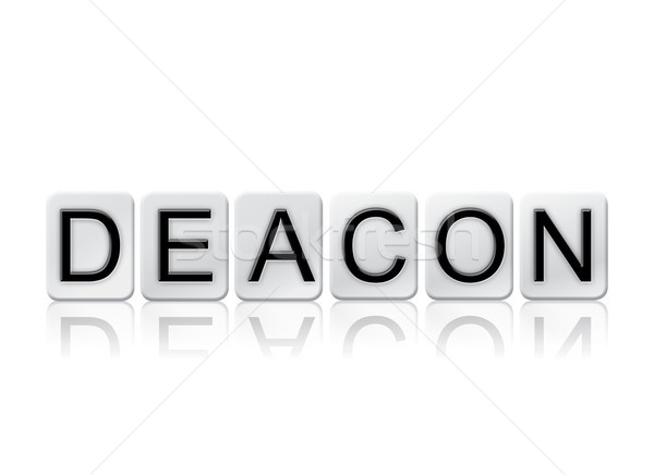 Deacon Concept Tiled Word Isolated on White Stock photo © enterlinedesign