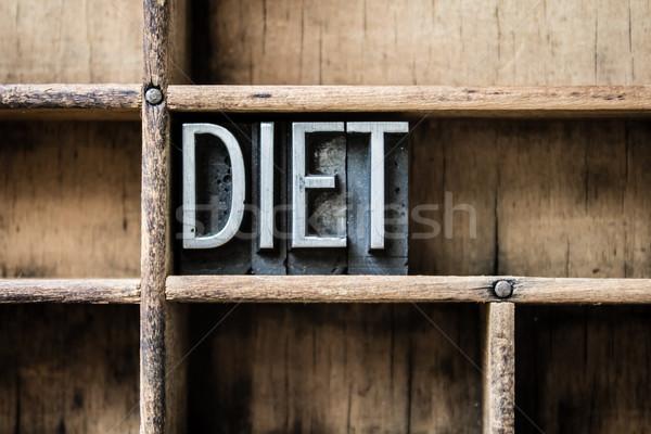 Diéta magasnyomás fiók szó írott Stock fotó © enterlinedesign