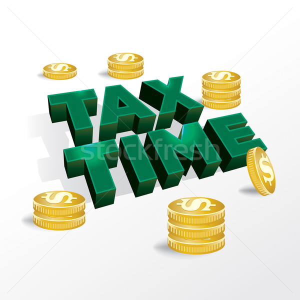 Tax Time Income Tax Concept Illustration Stock photo © enterlinedesign