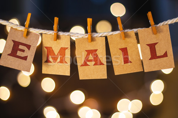 Email Concept Clipped Cards and Lights Stock photo © enterlinedesign