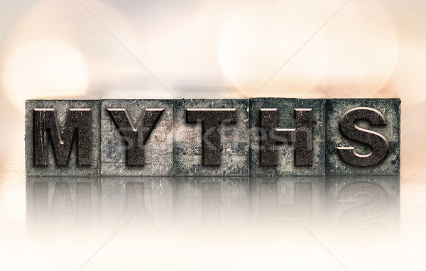 Myths Concept Vintage Letterpress Type Stock photo © enterlinedesign