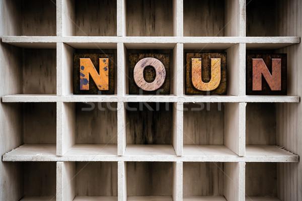 Stock foto: Holz · Buchdruck · Typ · Schublade · Wort · geschrieben