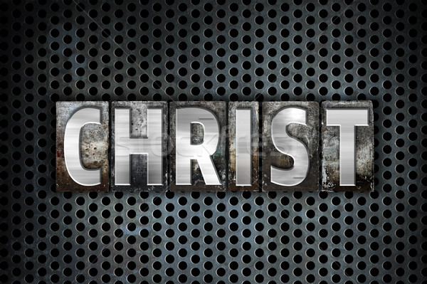 Christ Concept Metal Letterpress Type Stock photo © enterlinedesign