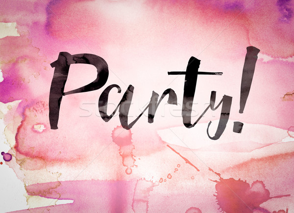 Party Concept Watercolor Theme Stock photo © enterlinedesign