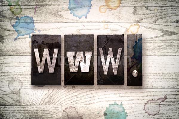 WWW Concept Metal Letterpress Type Stock photo © enterlinedesign