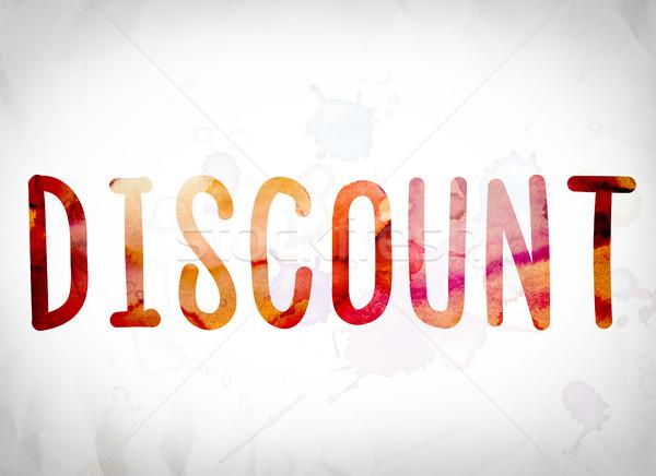 Discount Concept Watercolor Word Art Stock photo © enterlinedesign