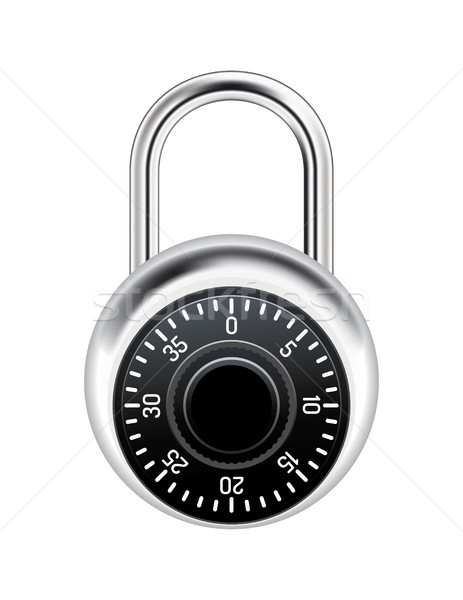 Realistic Combination Lock Illustration Stock photo © enterlinedesign