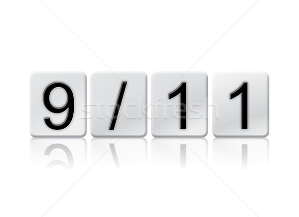 9-11 Isolated Tiled Letters Concept and Theme Stock photo © enterlinedesign