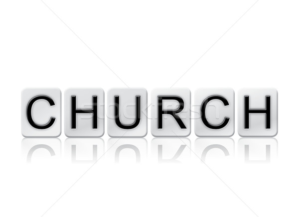 Church Isolated Tiled Letters Concept and Theme Stock photo © enterlinedesign