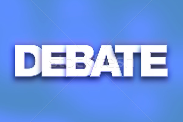 Debate Concept Colorful Word Art Stock photo © enterlinedesign