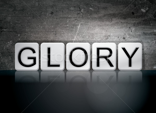Glory Tiled Letters Concept and Theme Stock photo © enterlinedesign