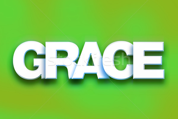 Grace Concept Colorful Word Art Stock photo © enterlinedesign