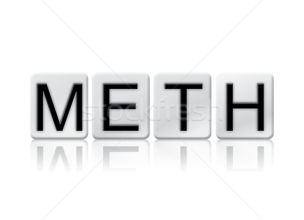 Meth Isolated Tiled Letters Concept and Theme Stock photo © enterlinedesign