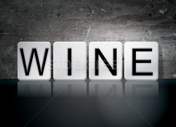 Wine Tiled Letters Concept and Theme Stock photo © enterlinedesign