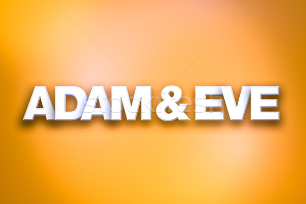 Adam and Eve Theme Word Art on Colorful Background Stock photo © enterlinedesign