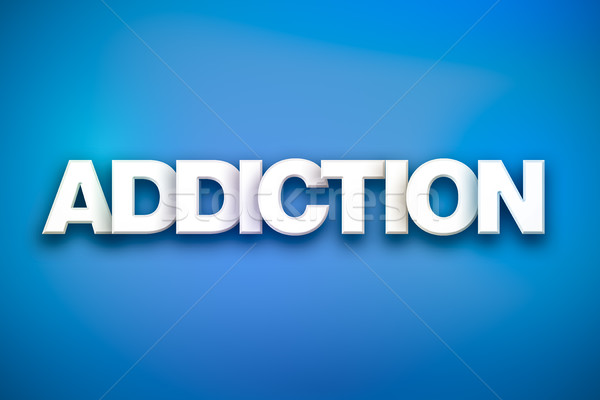 Addiction Theme Word Art on Colorful Background Stock photo © enterlinedesign