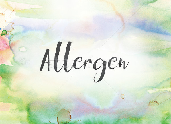 Allergen Concept Watercolor and Ink Painting Stock photo © enterlinedesign