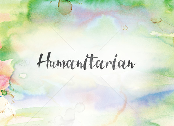 Humanitarian Concept Watercolor and Ink Painting Stock photo © enterlinedesign