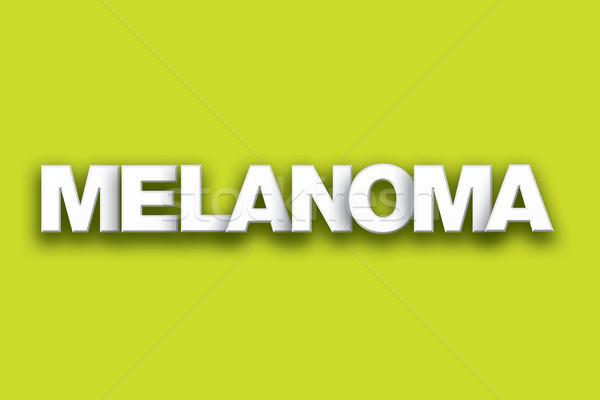 Melanoma Theme Word Art on Colorful Background Stock photo © enterlinedesign