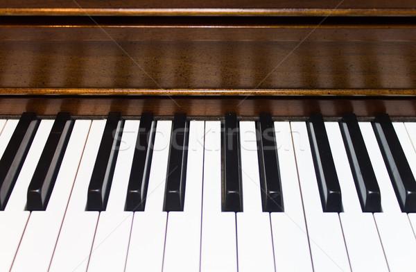 клавиши пианино черно белые фортепиано Сток-фото © enterlinedesign
