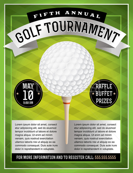 Golf Tournament Flyer Stock photo © enterlinedesign