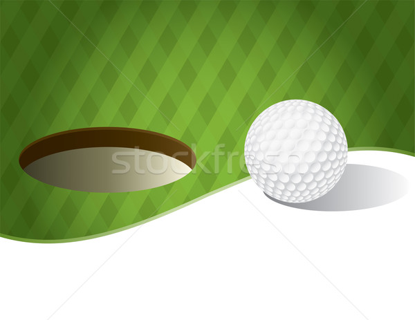 Golfbal groene illustratie kamer exemplaar ruimte vector Stockfoto © enterlinedesign