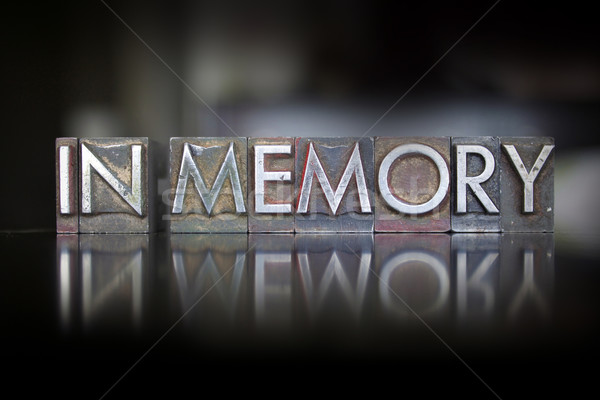 In Memory Letterpress Stock photo © enterlinedesign