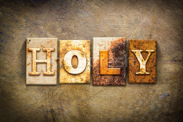 Holy Concept Letterpress Leather Theme Stock photo © enterlinedesign