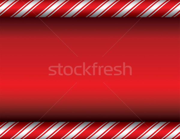 Christmas Candy Cane Red Background Stock photo © enterlinedesign
