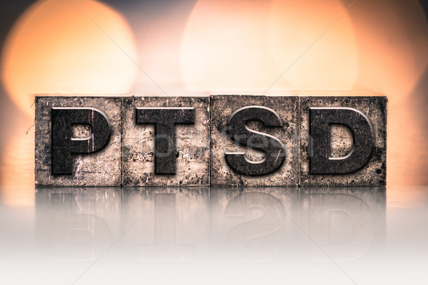 PTSD Concept Vintage Letterpress Type Stock photo © enterlinedesign