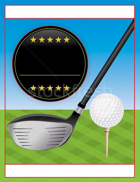 Vector golf torneo volante ilustración perfecto Foto stock © enterlinedesign