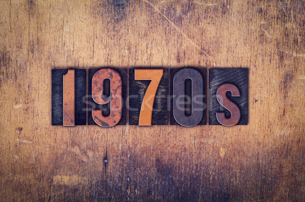 1970s Concept Wooden Letterpress Type Stock photo © enterlinedesign