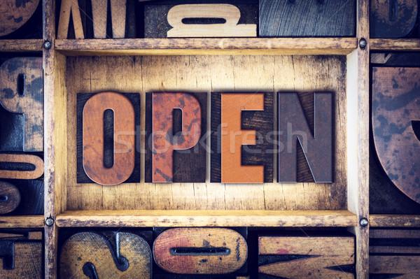 Open Concept Letterpress Type Stock photo © enterlinedesign
