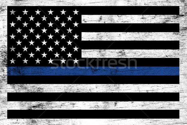 Police Law Enforcement Support Flag Background Stock photo © enterlinedesign