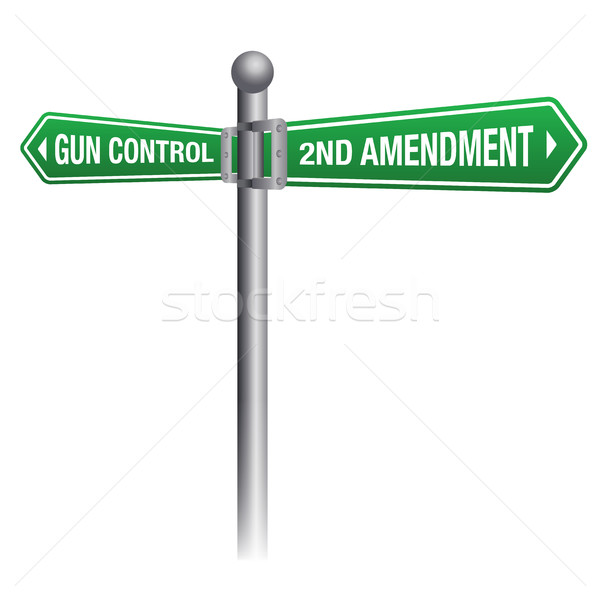 Gun Control and Rights Theme Stock photo © enterlinedesign